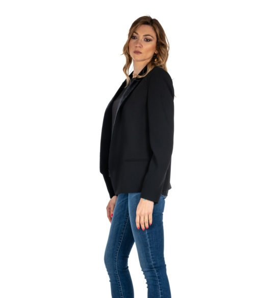 GIACCA DONNA PINKO NERO BAVERO IN VELLUTO BLACK PRISMA MADE IN ITALY BLAZER