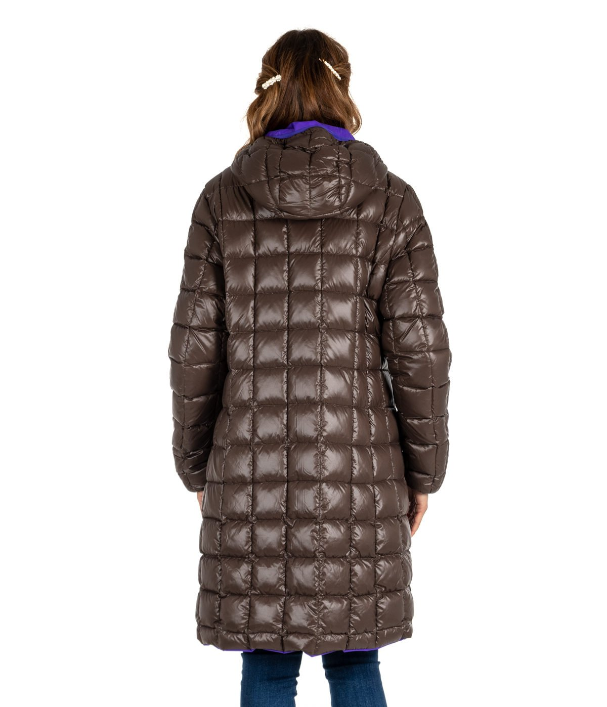 sale retailer 478a6 74086 GIUBBINO DONNA K-WAY MARRONE PIUMINO DOUBLE CHARLENE VIOLET H-BROWN