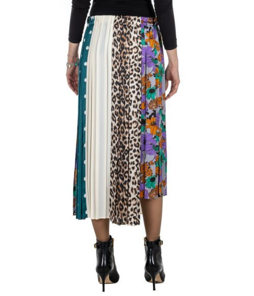 GONNA DONNA JUCCA FANTASIA PLISSETTATA FLOREALE POIS ANIMALIER J282501 MADE IN ITALY