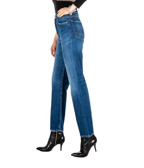 JEANS DONNA P_JEAN BLU DENIM ANYA BOYFRIEND HIGH RISE MADE IN ITALY PJB