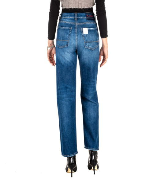JEANS DONNA P_JEAN BLU DENIM ANYA BOYFRIEND HIGH RISE MADE IN ITALY P_JEAN PINKO