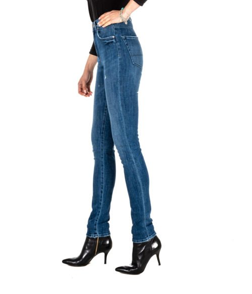JEANS DONNA P_JEAN BLU DENIM TAYLOR SKINNY HIGH RISE MADE IN ITALY PINKO