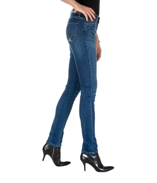 JEANS DONNA ROY ROGER'S BLU STRAIGHT FIT FLO WOMAN DENIM SUPER STRETCH