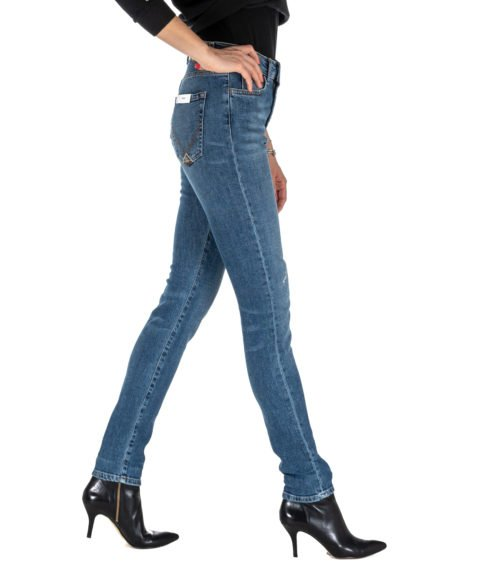 JEANS DONNA ROY ROGER'S SKINNY FIT MERION WOMAN DENIM STRETCH MADE IN ITALY BLU