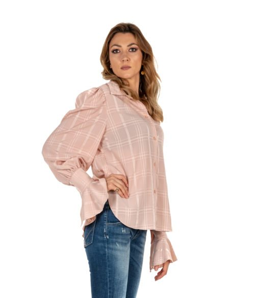 CAMICIA DONNA SEE BY CHLOÉ ROSA FANTASIA SMOKY PINK WOMAN SHIRT MADE IN PORTUGAL