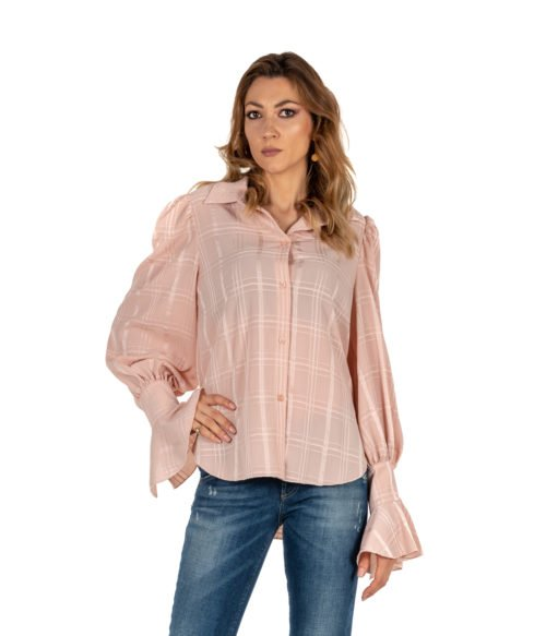 CAMICIA DONNA SEE BY CHLOÉ ROSA FANTASIA SMOKY PINK WOMAN SHIRT SEE