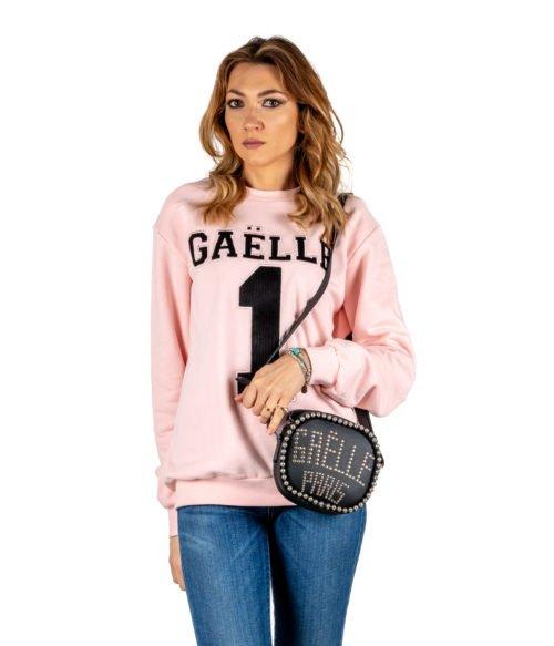 FELPA DONNA GAELLE PARIS ROSA MAGLIA GIROCOLLO GBD2720 MADE IN ITALY