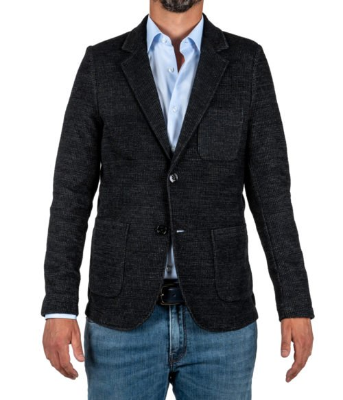 GIACCA UOMO DISTRETTO 12 NERA JERSEY MADE IN ITALY JACKET BLACK