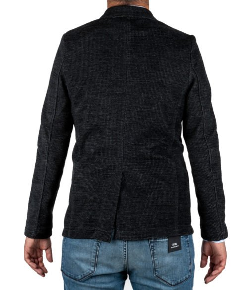 GIACCA UOMO DISTRETTO 12 NERA JERSEY MADE IN ITALY JACKET BLACK FADER