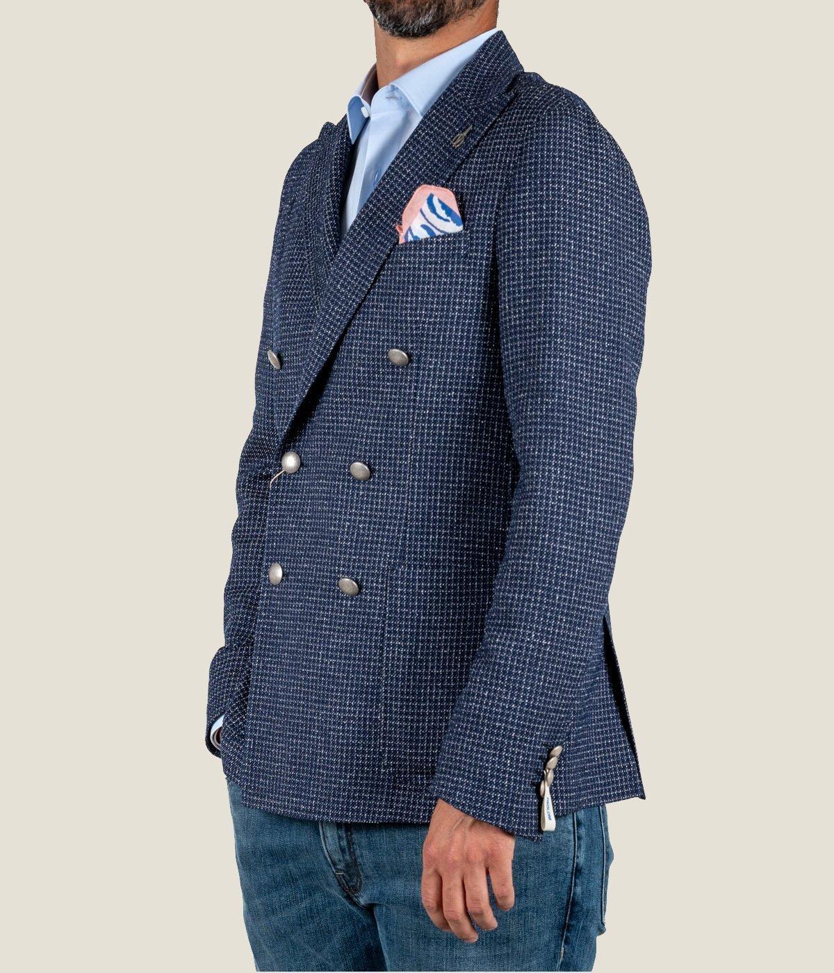 giacca uomo doppiopetro blu