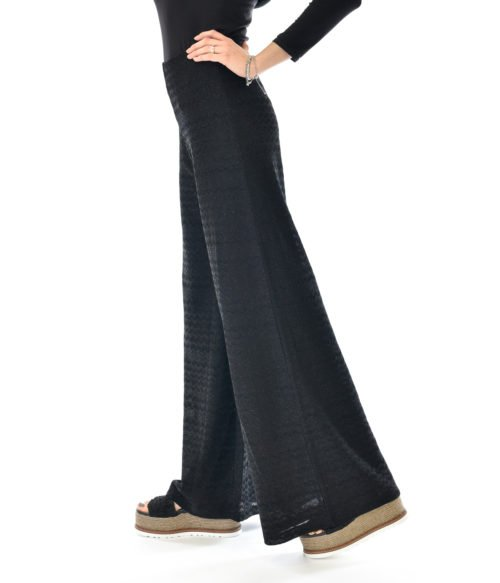 MISSONI PANTALONE DONNA NERO IN LUREX