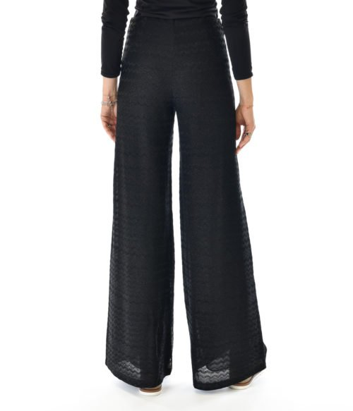 MISSONI PANTALONE DONNA NERO IN MAGLINA LUREX BLACK