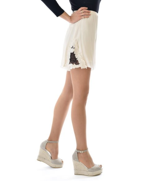 SEE BY CHLOÉ SHORTS DONNA SETA BIANCO LATTE SPRING