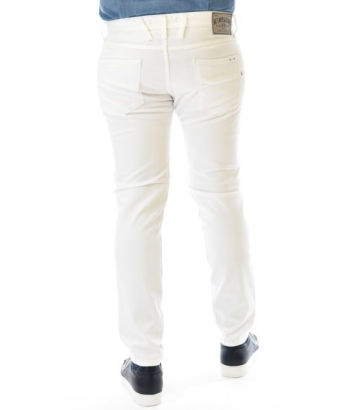 REPLAY JEANS UOMO BIANCO DENIM BULL STRETCH ANBASS